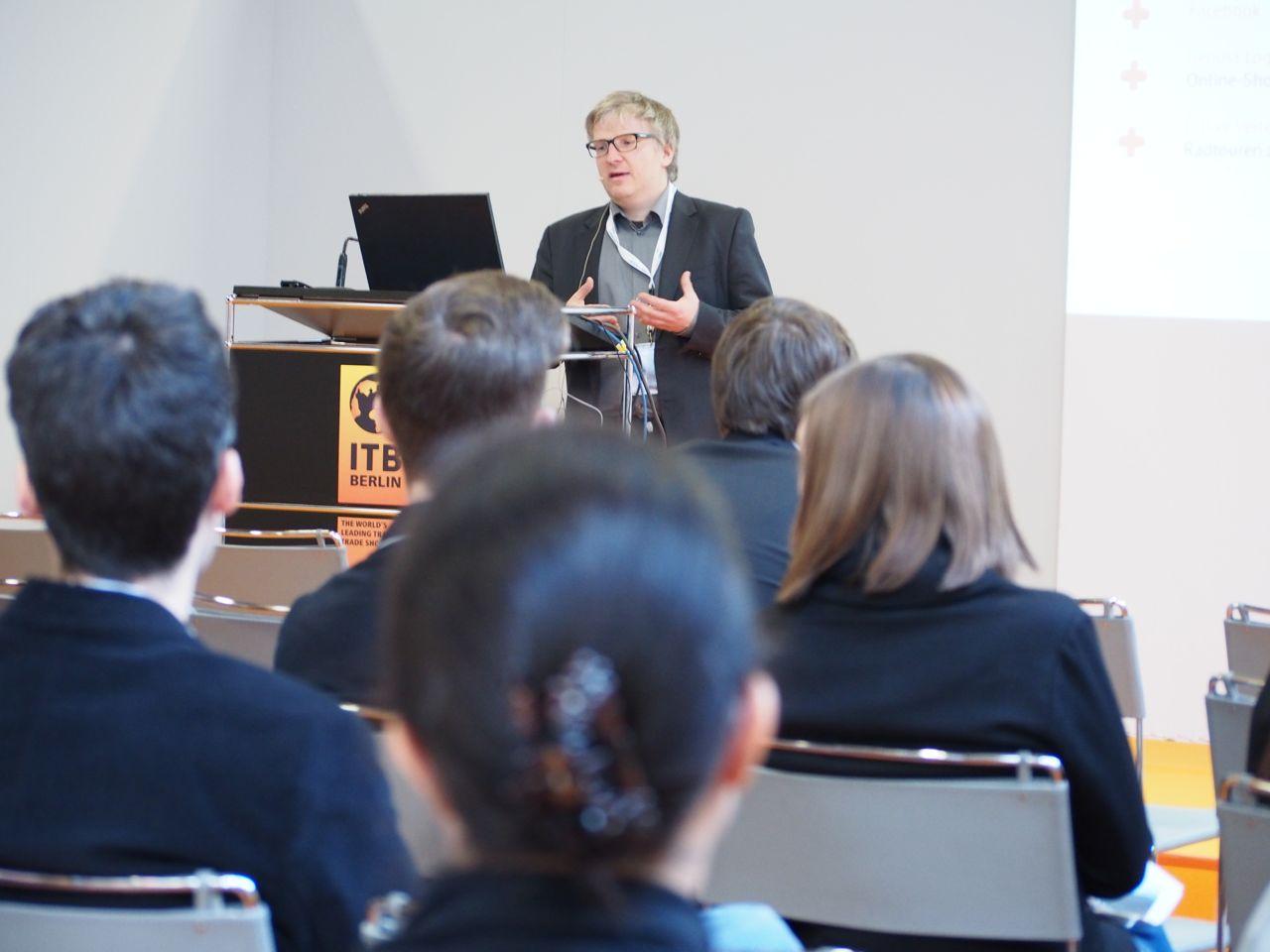Mario Wermuth, Geschäftsführer Inbooma GmbH, auf ITB2014