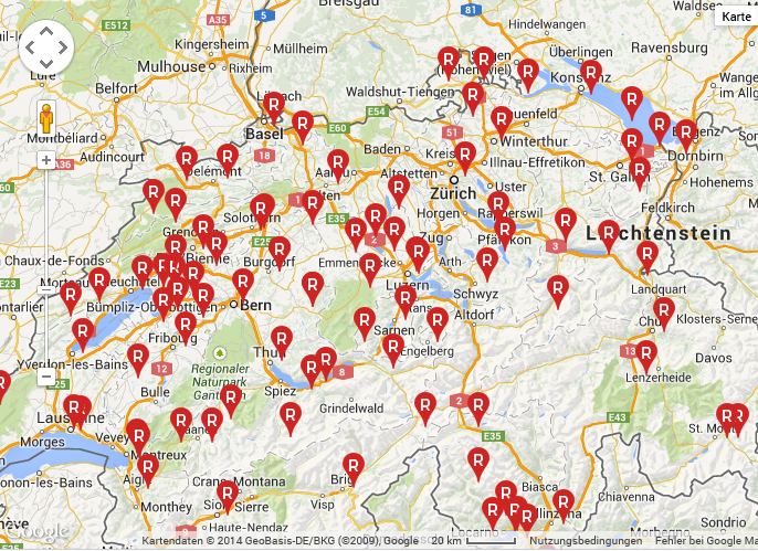 Rent a Bike Mietstationen in der Schweiz