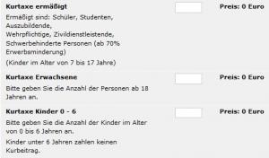 Kurtaxe – Wie lege ich's an mit Freizeitplan.net