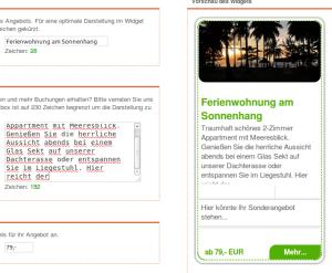 Buchbare Angebote im inbooma social.booking.network veröffentlichen