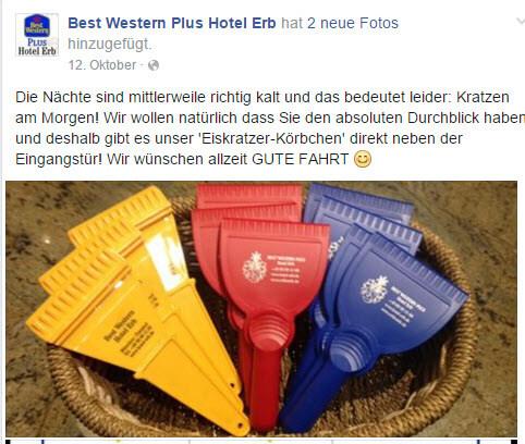 Eiskratzer-Körbchen / Quelle: www.facebook.com/hotel.erb