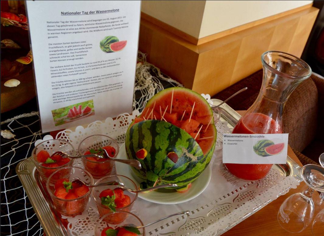 Nationaler Tag der Wassermelone im Best Western Hotel Lamm, Singen / Quelle: https://www.facebook.com/BestWesternCE